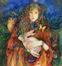The goddess Eostre's statue has the crescent moon on top of her head, which is another feature that suggests she is a reincarnation of Semiramis. Description from sitsshow.blogspot.com. I searched for this on bing.com/images
