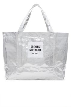 Shop Opening Ceremony and other designer brands at Opening Ceremony. My Bags, Purses And Bags, Non Woven Bags, Shopping Totes, Diy Backpack, Bag Packaging, Clear Bags, Market Bag, Clothes