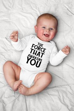 b5222b38 Nerdy Onesie©, Geekery Baby Shower, The Force That Awakens You, Cute Baby  Outfits, Hipster Clothing,