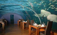 eat under water in Maldives