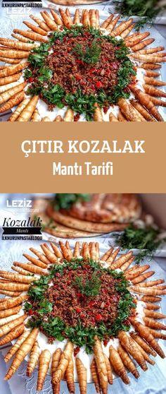 Çıtır Kozalak Mantı Tarifi Turkish Recipes, Italian Recipes, Turkish Sweets, Fish And Meat, Fast Dinners, Snacks Für Party, Fresh Fruits And Vegetables, Iftar, International Recipes
