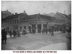 The corner of Knez Mihailova and Sremska street in the City Centre of Belgrade ~ Serbia