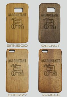 Accountant Engraved Wood Cases