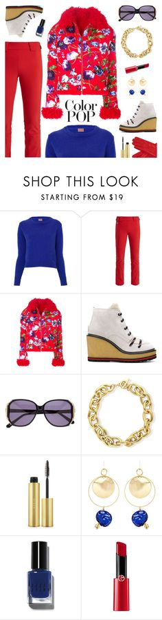 """Go Bold: Statement Coats"" by sproetje ❤ liked on Polyvore featuring Perfect Moment, Kenzo, Moncler, Heidi London, BERRICLE, AERIN, Mounser, Bobbi Brown Cosmetics, Giorgio Armani and Gizelle Renee"
