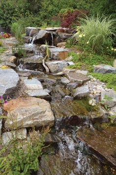 diy water features | To DIY or not to DIY? Diy Water Feature, Backyard Water Feature, Backyard Landscaping, Backyard Waterfalls, Backyard Stream, Ponds Backyard, Waterfall Design, Garden Waterfall, Outdoor Water Features