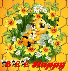 Bee Happy ! Happy Day ! - Paula Constantinescu - Google+ Good Night Gif, Good Morning Gif, Good Morning Greetings, Good Night Quotes, Good Morning Wishes, Morning Quotes, You Are Special, Are You Happy, Happy Day Gif