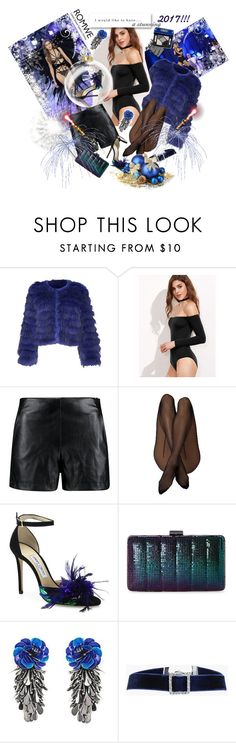 """""""My Stunning NYE"""" by sirenelisa ❤ liked on Polyvore featuring Victoria's Secret, Alice + Olivia, Boohoo, Jimmy Choo, Jessica McClintock and Forest of Chintz"""