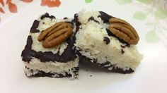 Paleo Chocolate Delight Coconut Bars, just made these. BOMB, used walnut instead of pecans and prunes instead of dates