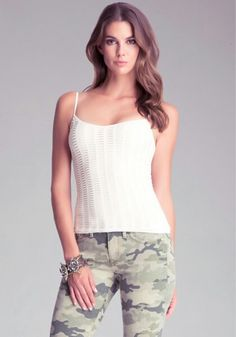 Double Layer Slashed Cami