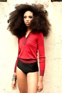 beautiful, thick curls! Always loved black girl hair #gorgeous