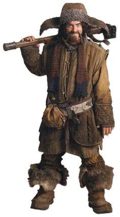 Bofur's full costume. Key elements: HAT, scarf, boots (add fake fur to mine), belt, lots of brown. Find oversized coat (?) at thrift shop and add detail to that. Find a way to hook fife onto belt.