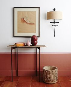 Cozy wall colors Ideas inspired by the fall - Decoration For Home Half Painted Walls, Half Walls, Color Terracota, Terracotta Floor, Terracotta Paint Color, Trending Paint Colors, Interior Styling, Interior Design, Interior Paint