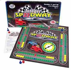 "Integer Speedway, Start your engines!"" This launches an exciting race that introduces drivers to positive and negative numbers on the number line! Varying speeds and pit stops add suspense."