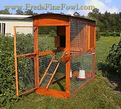 How to Build a Chicken Tractor | Chicken Coop  I like this one cause you can put the chicks up at night easily with the door to avoid predators and it takes advantage of more ground space