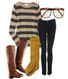 Photo credit to College Fashion...minus the glasses. I don't get the glasses lol