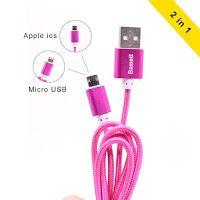 Heather Speaks Out: Bamett 3ft Micro 2 in 1 Apple Lightning Charging C...