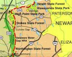 The New Jersey stretch of the Appalachian Trail is 74 miles long and begins at Abram S. Hewitt State Forest in the northern most point and runs west and south through Wawayanda State Park, High Point State Park, Stokes State Forest, ending at Worthington State Forest.- Through hike the nj section in about 4-5 days (14-18 miles/day)