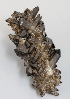 Quartz - Mount Malosa_Zomba District_Malawi.jpg Description: V-shape, smoky Quartz epitactic after feldspar which has been eroded away, very similar to the Namibian ones described by John S. White in the Rocks & Minerals magazine (vol. 87, Sept./Oct. 2012, pp. 459-462), but with the typical combo of small Malawi species related with it.