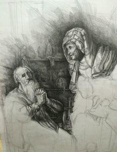 rembrandt,reproduction,drawing,reprodüksiyon