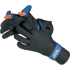 Glacier glove kenai waterproof glove 016bk g tek 2mm for Cold weather fishing gloves