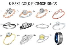 What Is a Promise Ring? - Wedding and Bridal Inspiration Gold Promise Rings, Wedding Rings, Bridal, Inspiration, Biblical Inspiration, Bride, Brides, Wedding Ring, Wedding Bands