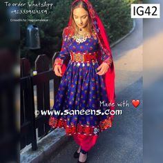 New afghan fashion kuchi vintage style simple frock in dark blue color - Saneens Online Store Afghan Clothes, Afghan Dresses, Maxi Dresses, Girls Dresses, Simple Frocks, Afghan Wedding, Vintage Style, Vintage Fashion, Dance Accessories
