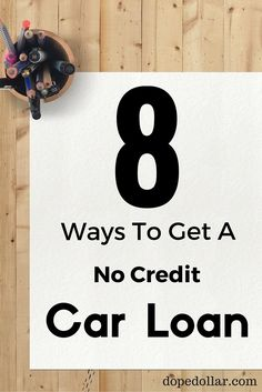How to get a car loan when you have zero credit!
