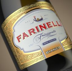 Farinelli Frizzante on Packaging of the World - Creative Package Design Gallery Europe Packages, Label Design, Package Design, Wine Label, Sparkling Wine, Packaging Design Inspiration, Whisky, Wines, Alcohol
