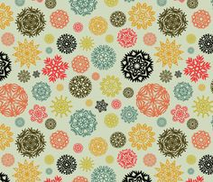Xmas Lounge Paper Snowflakes fabric by jumeaux on Spoonflower - custom fabric