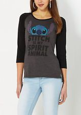 Women's Disney Lilo and Stitch Tee Shirt T Pullover Top Jumper Spirit Animal NEW