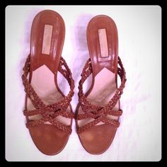 REDUCED! Michael Kors tan woven sandals Michael Kors tan woven sandals. Too high for me, but gorgeous on!! Go with jeans, dresses and skirts.. Everything. Super classy!! Michael Kors Shoes Sandals