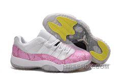 32f9b4359a92 New Air Jordan 11 Low GS White Pink Snakeskin Free Shipping Qnz2b