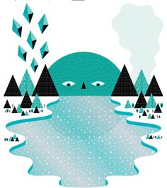 Andrew Groves #illustration #mountains