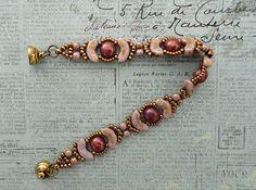 Linda's Crafty Inspirations: Bracelet of the Day: Jolie Band - Smoky Topaz