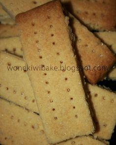 Shortbread Fingers: Scottish Cookies. Receta en español de estas sencillas galletas tradicionales de Escocia.