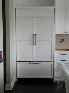 built in refrigerator cabinet. Stunning Installation Of A Built-in @subzeroandwolf Refrigerator With Custom Cabinet Fronts Complete Recently Built In