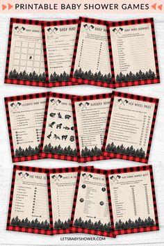 Printable Lumberjack Baby Shower Games