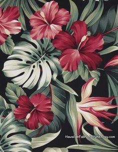 Red hibiscus, bird of paradise and monstera leaf fo. Red hibiscus, bird of paradise and monstera leaf fo. Print Wallpaper, Flower Wallpaper, Wallpaper Backgrounds, Wallpaper Ideas, Phone Backgrounds, Tropical Art, Tropical Flowers, Hawaiian Flowers, Cactus Flower