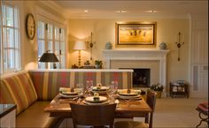 Banquettes, Room dividers and Kitchen island seating on Pinterest
