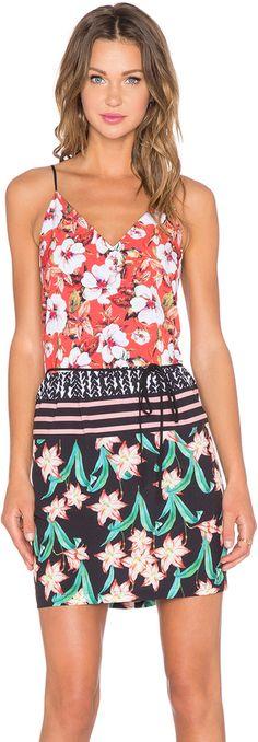 Clover Canyon Floral Sunrise Mini Dress