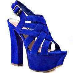 Petra - Blue Iris Suede