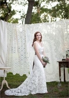 lace reception | lace tablecloth wedding backdrops, wedding reception, backdrop ...