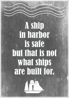 MeinLilaPark – DIY printables and downloads: Free printable motivational quote about stress: a ship in harbor... – ausdruckbarer Spruch – freebie