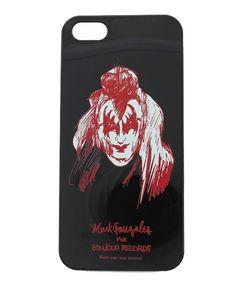 bonjour records(ボンジュールレコーズ)のMark Gonzales for bonjour records i-phone case KISS(モバイルケース/カバー)|ブラック