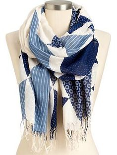 Add this Sun-Print Gauze Scarf to your arsenal of accessories...great for fall.  Fab with Jeans of all shades!