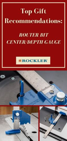 Quickly set your router table fence a precise distance from the center of the bit! This jig also works as a depth gauge for bits and blades. Check it out on our website for your favorite woodworker. #createwithconfidence #routerbit #centergauge #depthgauge #rocklerjig Top Gifts, Gifts For Dad, Router Table Fence, Router Accessories, Router Lift, Woodworking Jigs, Gauges, Top Rated, In The Heights