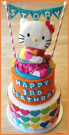 making a hello kitty cake!