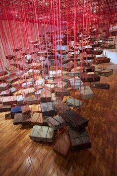 Chiharu Shiota - Busan Biennale[Busan / South Korea]photo by Sunhi Mang