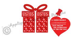Gift Box Applique Embroidery Design-Christmas Gift Box