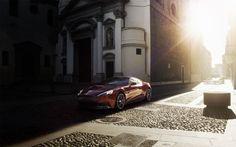 Red Aston Martin Vanquish